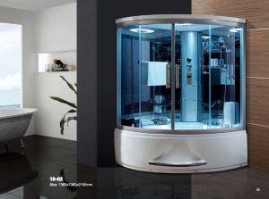 Vách tắm kính cong – 04