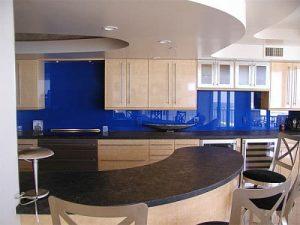 Kính ốp bếp màu xanh – 03