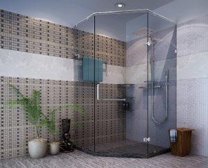 Vách kính tắm góc 135 độ – 01